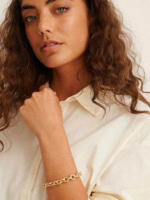 NA-KD Accessories smycke Återvunnet Armband Med Rund Kedja guld