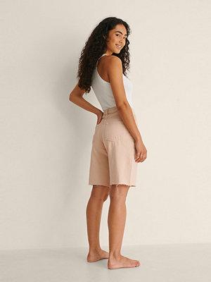 Shorts & kortbyxor - NA-KD Trend Ekologiska, Långa Shorts I Denim rosa