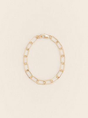 NA-KD Accessories smycke Återvunnen Oval Fotledskedja guld