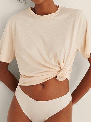NA-KD Lingerie Soft Comfort Oversize T-Shirt beige