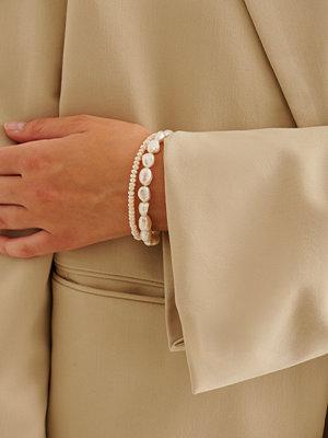 NA-KD Accessories smycke Double Pack Pearl Bracelet vit