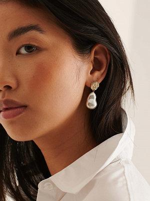 NA-KD Accessories smycke Återvunna Chunky Pärlörhängen guld