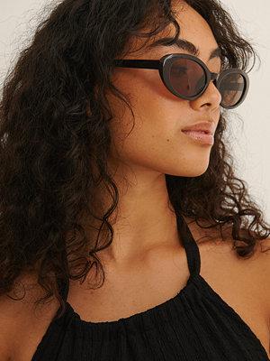NA-KD Accessories Ovala Cateyesolglasögon brun