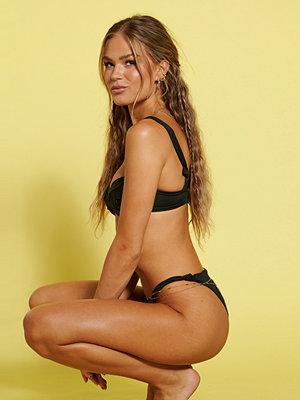 Hanna Schönberg x NA-KD Återvunnen Bikinitrosa Med Knytdetalj svart