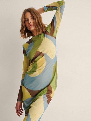 NA-KD Trend Recycled Meshklänning Med Virveltryck multicolor
