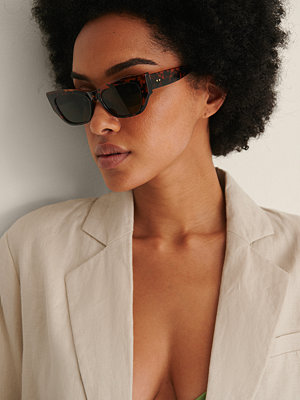 NA-KD Accessories Cateye-Bågade Solglasögon brun