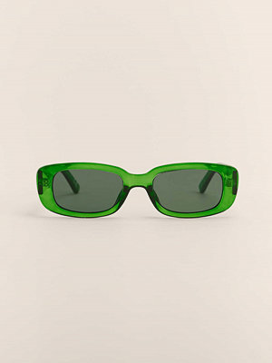 NA-KD Accessories Breda Solglasögon Med Retrobågar grön