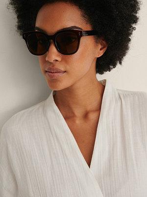 NA-KD Accessories Basic Stora Fyrkantiga Solglasögon brun