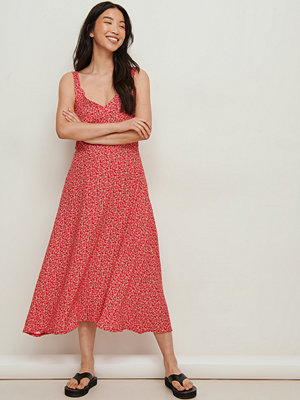 NA-KD Midiklänning Med Vintage Look röd
