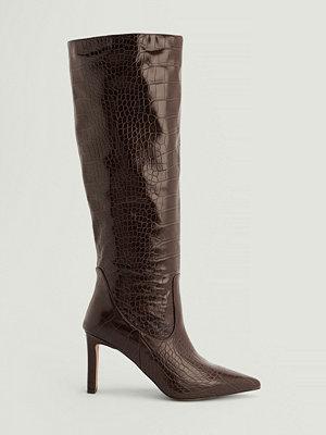 NA-KD Shoes Återvunna Spetsiga Boots Med Mjukt Skaft brun