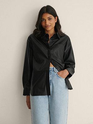 Calvin Klein Kjol I Konstläder svart