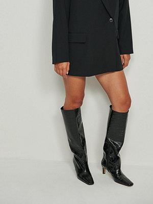 NA-KD Shoes Återvunna Boots Med Vida Skaft svart