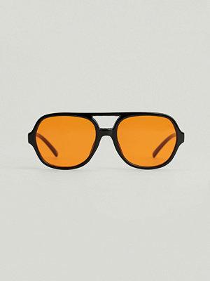 Solglasögon - NA-KD Accessories Retro Pilotsolglasögon svart