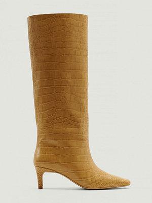 NA-KD Shoes Boots Med Vida Skaft beige