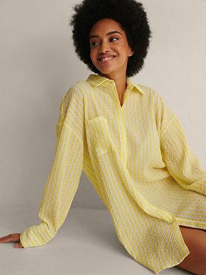 NA-KD Trend Oversize Skjorta gul