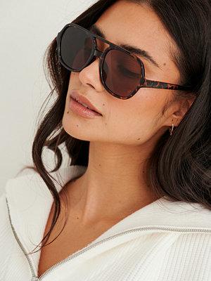 NA-KD Accessories Retro Pilotsolglasögon brun