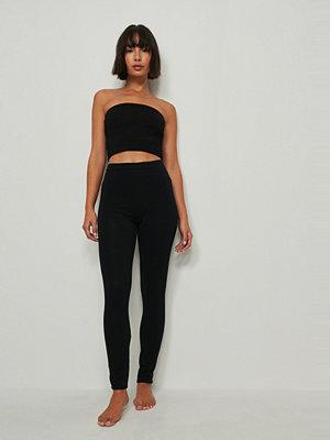 Leggings & tights - NA-KD Basic Ekologiska Basleggings svart