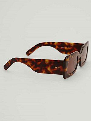 Solglasögon - NA-KD Accessories Solglasögon med chunky acetatbågar brun