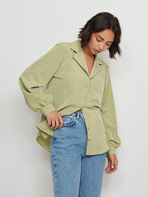 Buonalima x NA-KD Skjorta Med Ballongärm grön