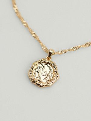 NA-KD Accessories smycke Återvunnet halsband med mynt med stjärntecken guld