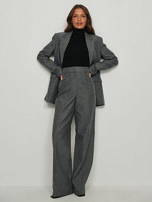 NA-KD Classic Kostymbyxor med hög midja grå