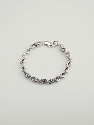 NA-KD Accessories smycke Rope Chain Bracelet silver