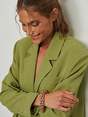 NA-KD Accessories smycke Runt armband med chunky kedja guld