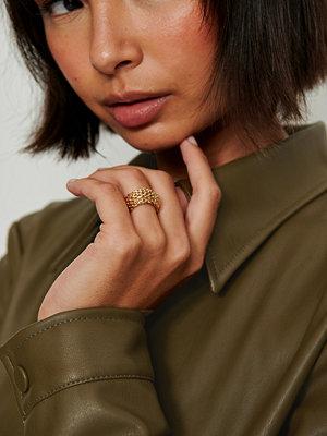 NA-KD Accessories smycke Återvunnen Ring Med Meshlook guld