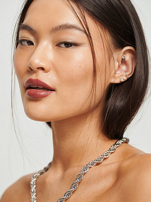 NA-KD Accessories smycke Chunky Rope Chain Necklace silver