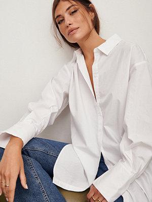 Moa Mattsson x NA-KD Oversize skjorta vit