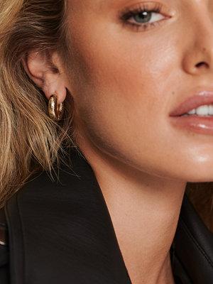NA-KD Accessories smycke Chunky Återvunna Glänsande Hoops guld