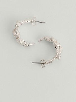 NA-KD Accessories smycke Chucky Återvunna Hamrade Hoops silver