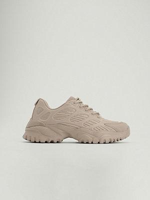 NA-KD Shoes Chunky träningsskor med gummi beige