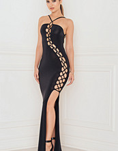Rebecca Stella Lattice Detailed Maxi Dress