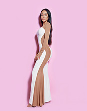 Rebecca Stella Optical illusion Detailed Maxi Dress