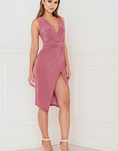 Rebecca Stella With A Twist Wrap Over Midi Dress