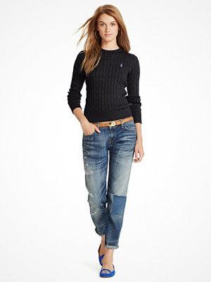 Ralph Lauren Womenswear Julianna PP LONG SLEEVE SWEATER POLO BLACK