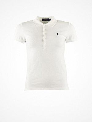 Ralph Lauren Womenswear Julie Polo Short Sleeve Button Down Polo Top White
