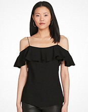 Ralph Lauren Womenswear Silk Ruffled Top POLO BLACK