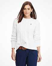 Ralph Lauren Womenswear Cable Rollneck Sweater WHITE