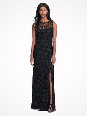 Lauren Ralph Lauren Lace Open-Back Gown Black