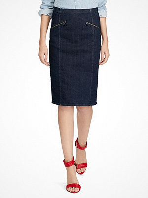 Kjolar - Ralph Lauren Womenswear Denim Pencil Skirt DARK INDIGO