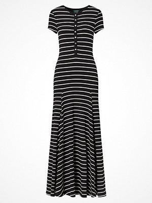 Lauren Ralph Lauren WOLFORD - S/S LONG DRESS POLO BLACK/HERBAL MILK