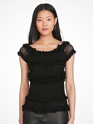 Ralph Lauren Womenswear Ruffled Off-the-Shoulder Top BLACK