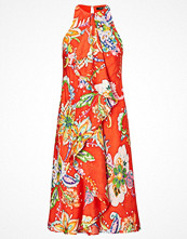 Lauren Ralph Lauren Ruffled Paisley-Print Dress ORANGE MULTI