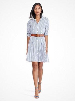 Ralph Lauren Womenswear Pleated Poplin Shirt dress WHITE/REGATTA