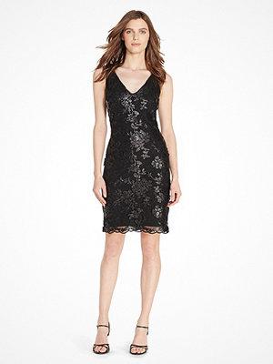 Lauren Ralph Lauren STEFFIANN SLEEVELESS DRESS BLACK/BLACK MATTE