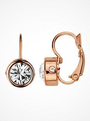 Smycken - Dyrberg&Kern MADU EARRINGS ROSE GOLD/CRYSTAL