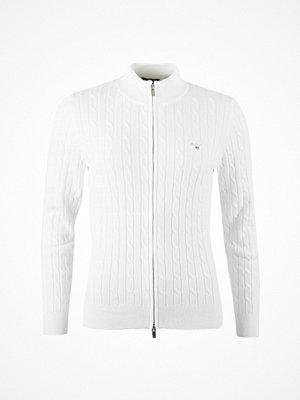 Tröjor - Gant Cable Zip Cotton