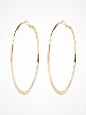 River Island örhängen Gold tone medium flat bottom hoop earrings